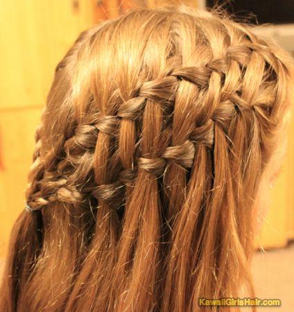 ダブルウォーターフォール の画像|かんたん かわいい 女の子のヘアスタイル