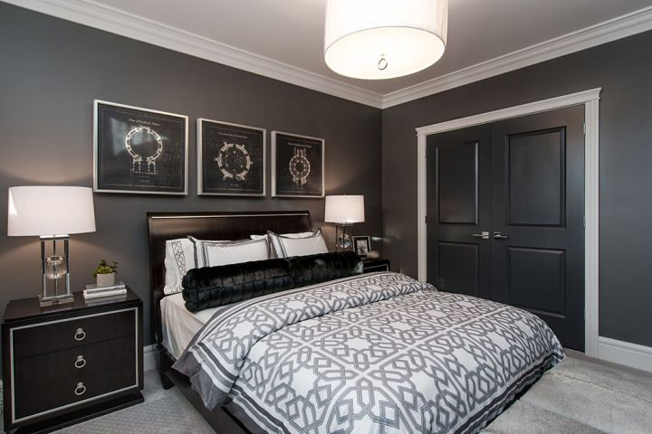 Brilliant Black White Grey Bedroom : ... closets on Pinterest  Guest rooms, Bedroom designs and Black bedrooms