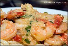 camarones al mojo de ajo...buttery garlic shrimp.  One of my favorites!