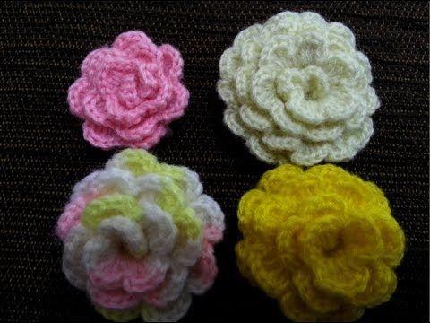 Flower Crocheting http://www.youtube.com/watch?v=V36ggykqAzM