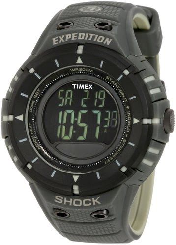 Timex Men's T49612 Expedition Trail Series Shock Digital Compass Black/Green Resin Strap Watch $69.92 http://roksmu.blogspot.com/2014/07/expedition-watches.html