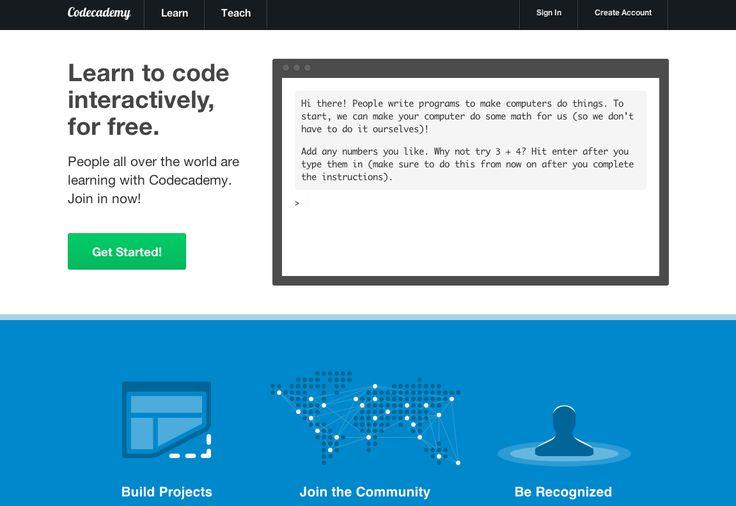 Code Academy   (25 Killer Websites that Make You Cleverer - Imgur)