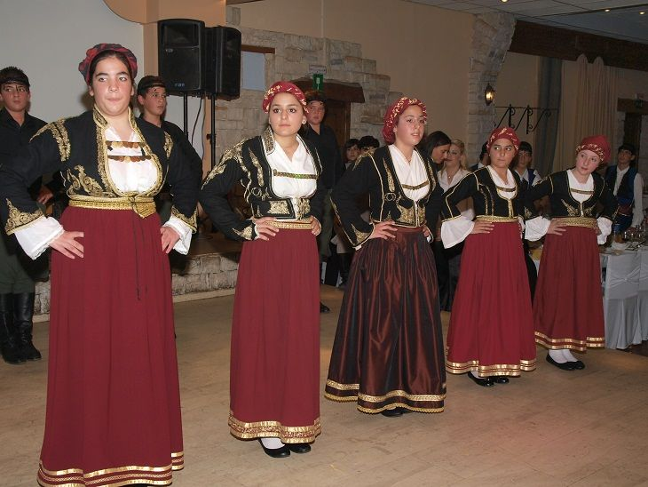 """Folklore Music and Dance Association """"Arkadi"""" of Rethymno, Crete, Cutting the New Year Pie celebrations 2011"""