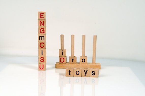 Alphabet Blocks  Wooden Alphabet Blocks  Wooden Toy by beigebois, €22.00