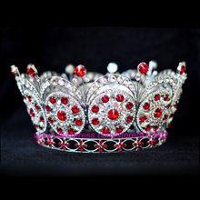 Miss Universe crown 2009 Miss Venezuela Bigger size Royal Sparkly Rhinestones Silver Plated Tiaras And Crowns Bride Bride