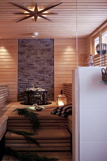 Saunaofen Legend von www.wellness-stock.de, eingebaut in die Liege - Mittelpunkt der Sauna und Highlight
