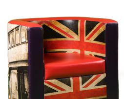 Union Jack easy-chair. Made by Inventini.