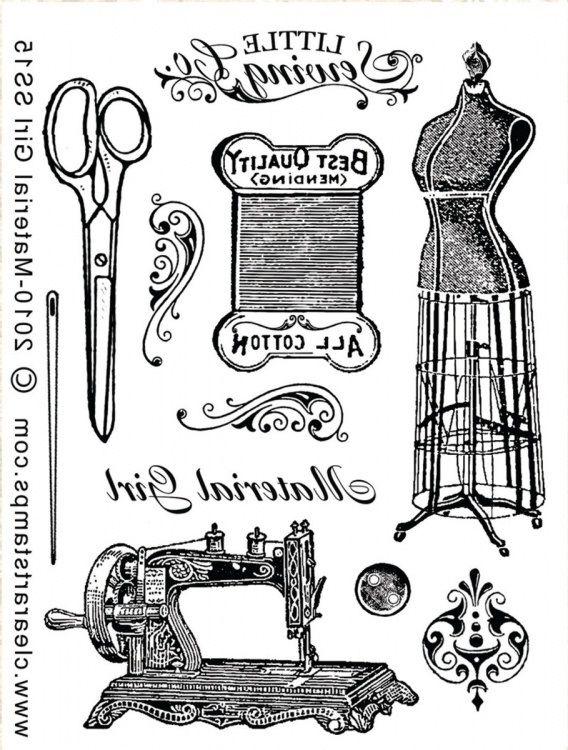 Vintage dressmaking images