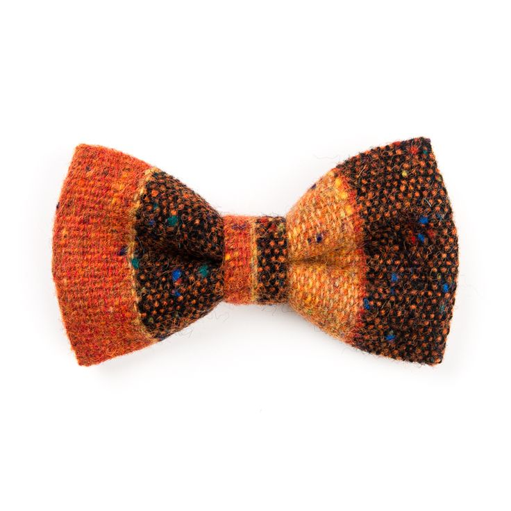 "Check out our ""Rusts of Autumn"" #Donegal #tweed #bowtie. #Handmade in #Ireland. FREE Worldwide Shipping!"