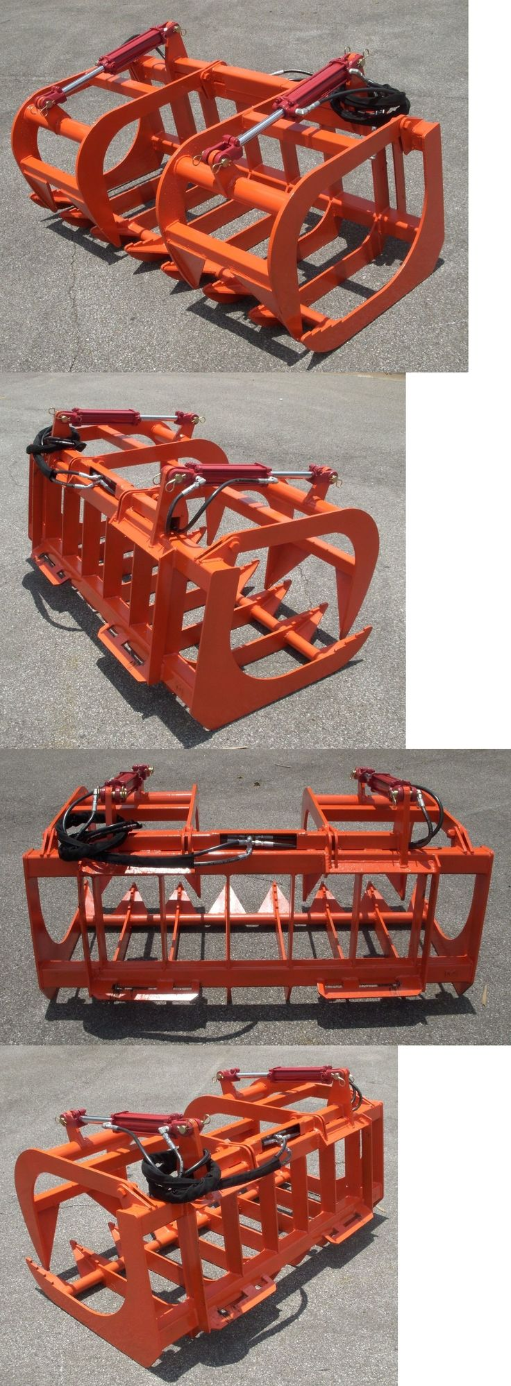 heavy equipment: Kubota Compact Tractor Loader Attachment - 60 Root Rake Grapple - Ship $199 BUY IT NOW ONLY: $1095.0