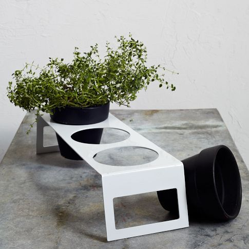Herb Planter Stand $24 - perfect for a kitchen greenhouse window