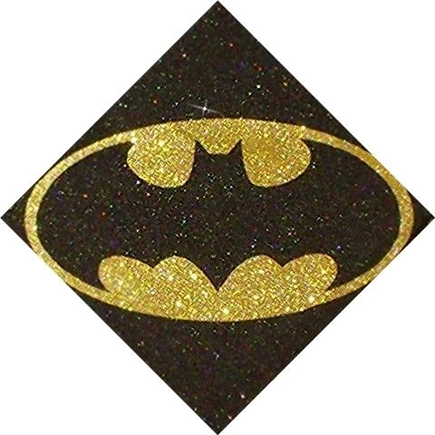 Batman Inspired Superhero DC Comics Glitter Art by GlitterMortis