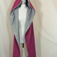 Echarpe capuche de fée cape féérique  mauve et cachemire reversible  http://sanlivine.alittlemarket.com