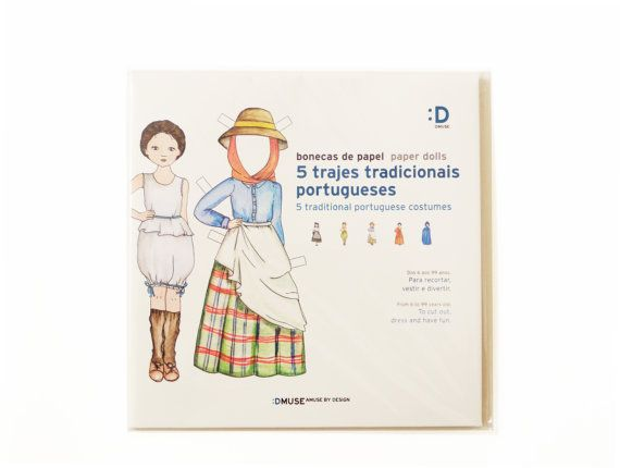 Paper dolls with illustrated figurines of by DmuseAmuseByDesign, $15.00