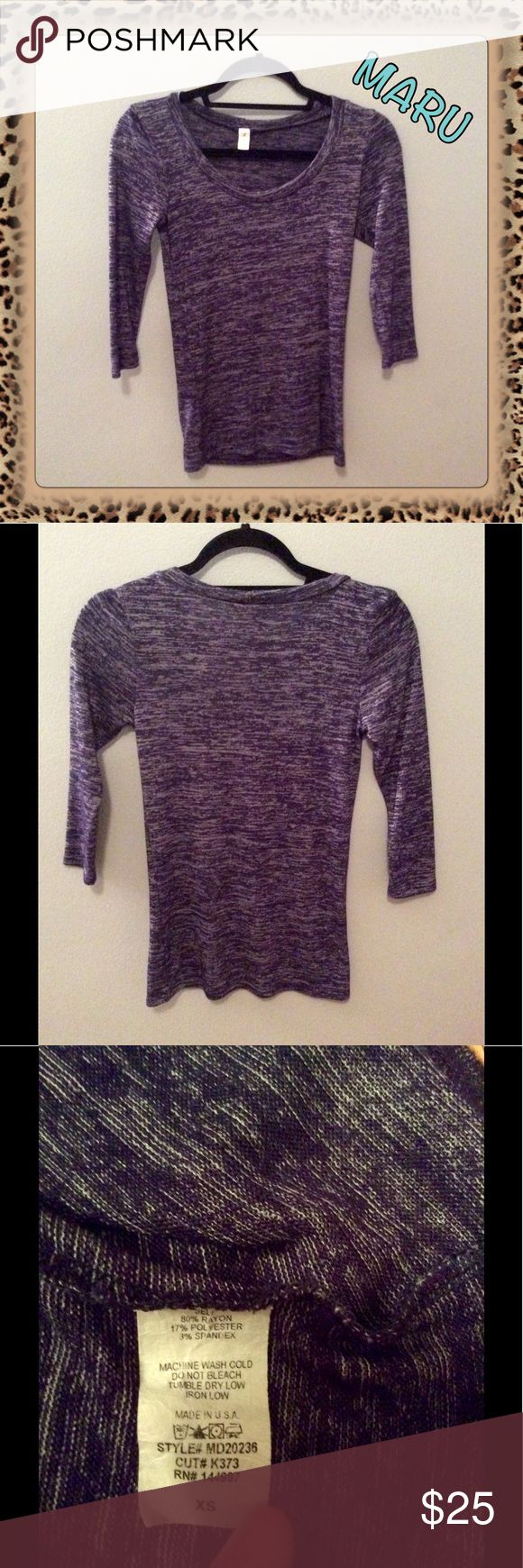 NWOT MARU 3/4 Length Sleeve Scoopneck Top New without tags - purchased on here and just never wore it, has been hanging in my closet ever since. Please see third picture for material & washing info. No trades. Lowest price unless bundled (trying to get my money back). Comes from smoke & pet free home. Don't hesitate to ask any questions! Tags: Stitch Fix, Golden Tote, ModCloth MARU Tops