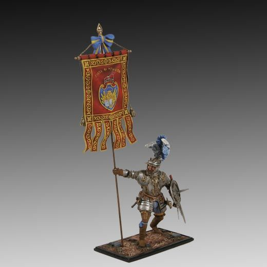Warrior in Venetian Armor 1550 lead soldiers, toy soldiers, historical miniatures