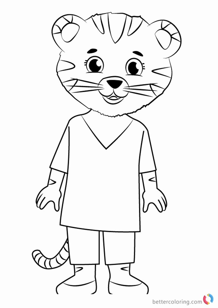 Daniel Tiger Coloring Page Inspirational Mom Tiger From Daniel Tiger Coloring Pages Free In 2020 Daniel Tiger S Neighborhood Bear Coloring Pages Drawings