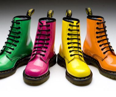 Doc Martens are obviously still worn all the time, but in the early '90s, people were rarely seen without them. They came in tons of different colors – these bright ones are so old school.