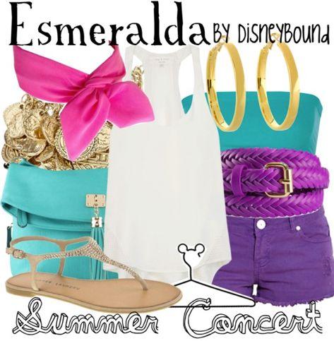 summer concert | Disney Bound Esmeralda