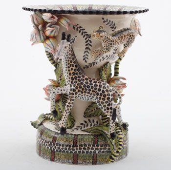 Ardmore Ceramics: Giraffe Leopard Sweetdish