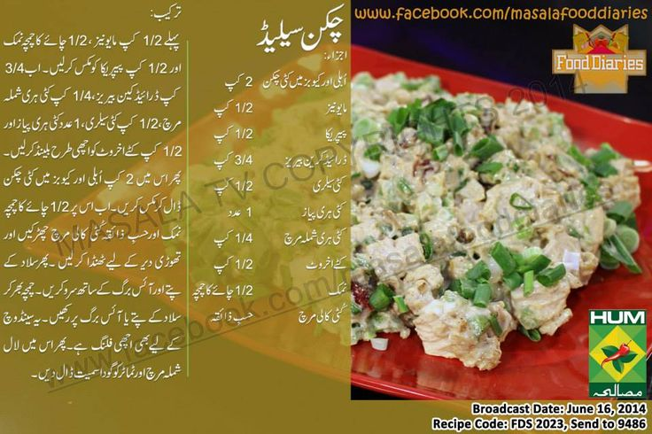 Tasty and Healthy Chicken Salad Recipe in Urdu and English by Chef Zarnak Sidhwa at Masala Tv Cooking Program Food Diaries.