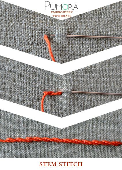 Pumora's embroidery stitch-lexicon: the stem stitch