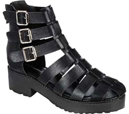Beston Teela-01 - Black Faux Leather - FREE Shipping & Returns | Shoebuy.com