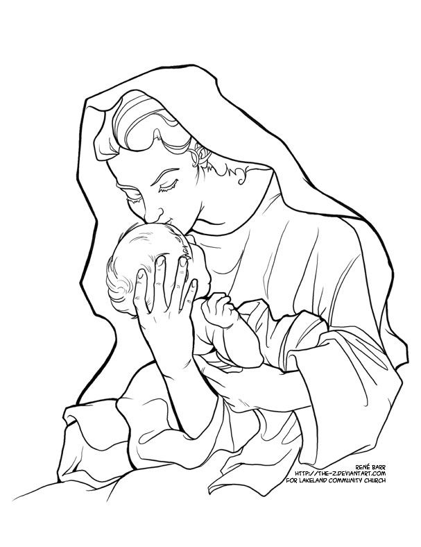 15 best may crowning may day images on pinterest virgin for Blessed mother coloring page