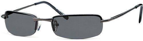 Rechteckbrille Sonnenbrille New Wayfarer Sonnenbrille Aviator Fliegerbrille B414, Rahmenfarbe:Eloxiert Schwarz