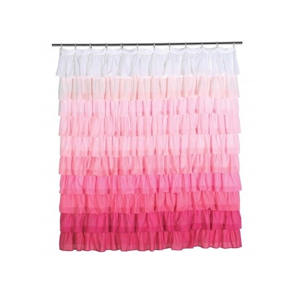 Ruffle Decorative Shower Curtain Pink ❤ Liked On Polyvore Featuring Home,  Bed U0026 Bath,