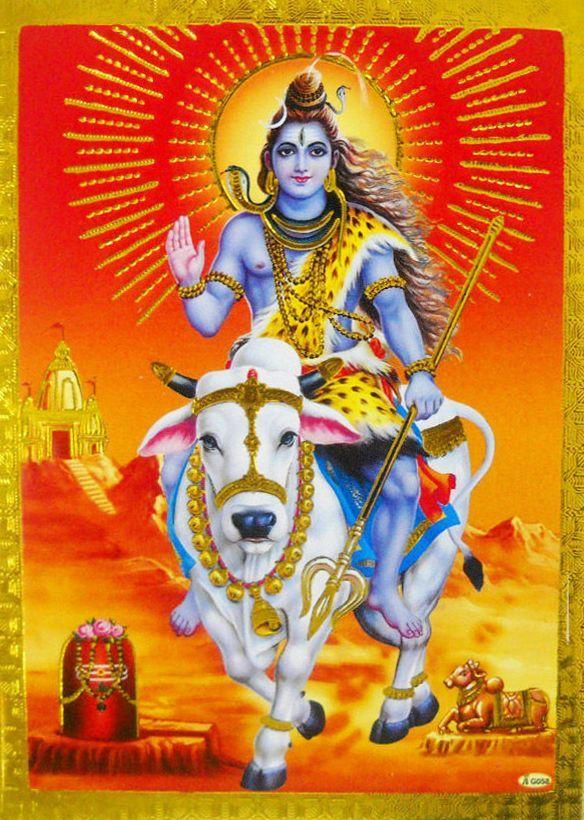 Hindu Cosmos - Lord shiva on Nandi  (via ebay: manyacreations)