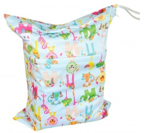 Cute Animal Printed Baby Wet And Dry Cloth Diaper Bags