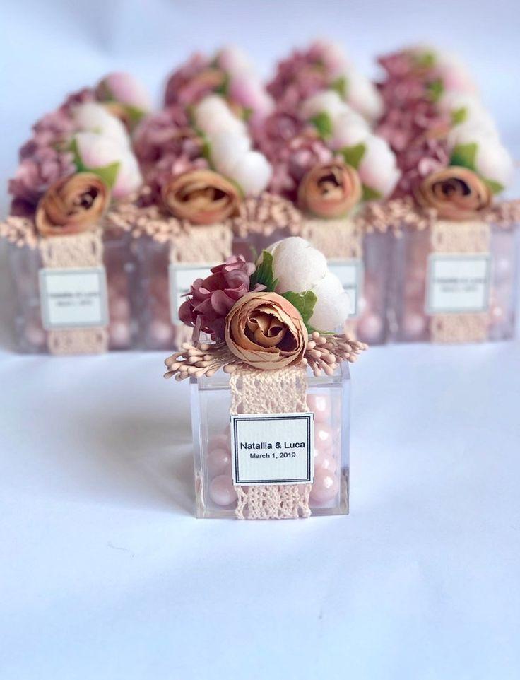 10 piezas Favores de boda, Favores, Favores, Favores rosas, Favores de boda para invitados, Baby shower, Favores de fiesta, boda Blush, favores personalizados