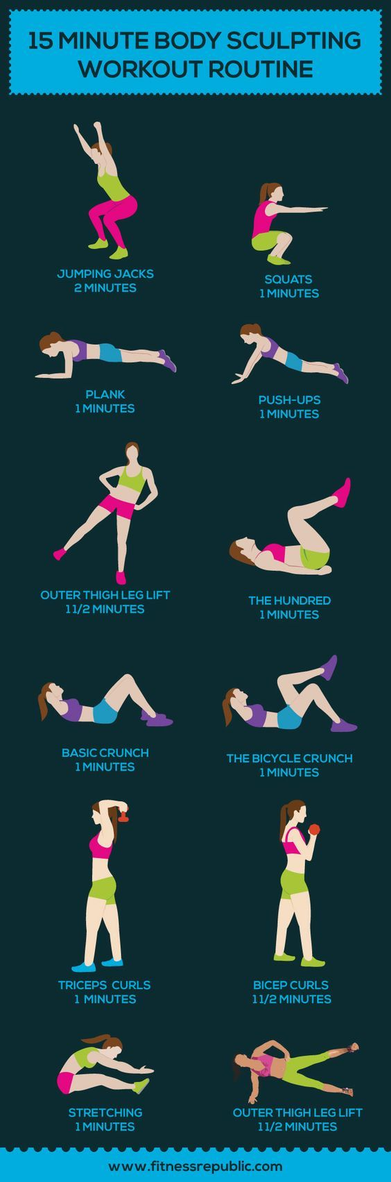 15 Minute Body Sculpting Workout Routine: