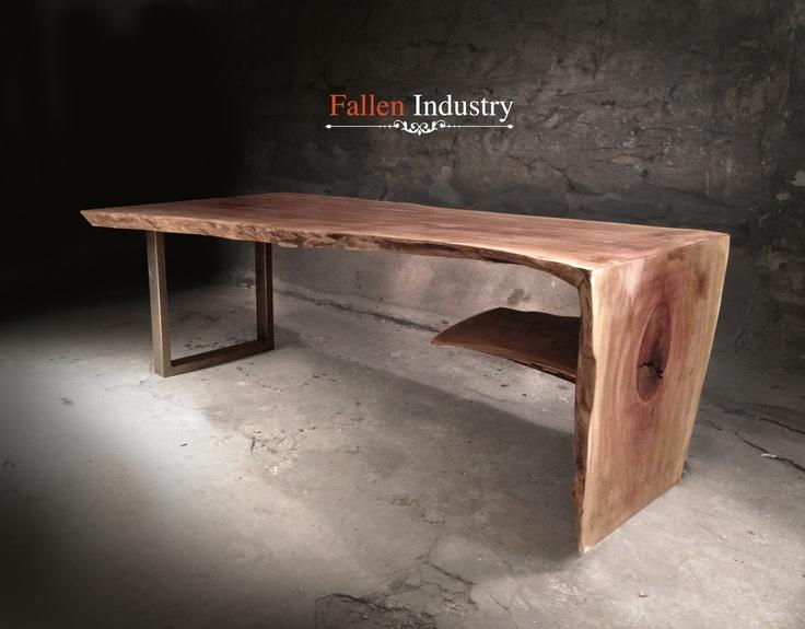Wooden Waterfall Coffee Table Fallen Industry Pieces Pinterest