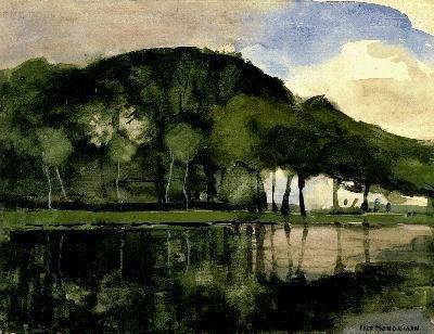 Piet Mondriaan (1872 - 1944)  Langs de Amstel #landscape #tree #art