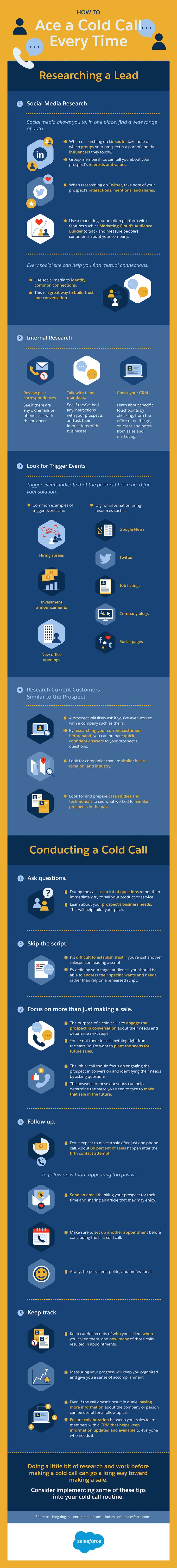 How to Ace a Cold Call Every Time #Infographic #HowTo #Sales