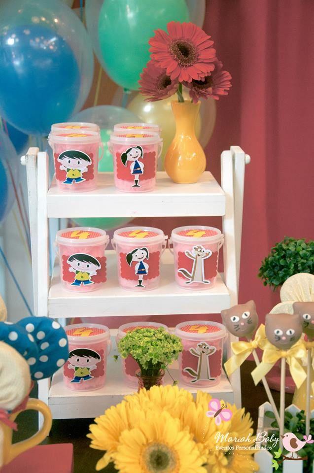 Algodão doce decoração show da Luna | Festa infantil by Mariah festas #showdaluna