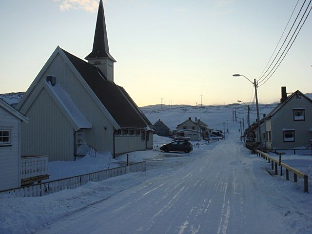 Bugøynes`c chapel‎ in winter, Sor-Varanger, Finnmark, Norway