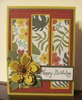 Botanical Blooms stamp set, Panel card