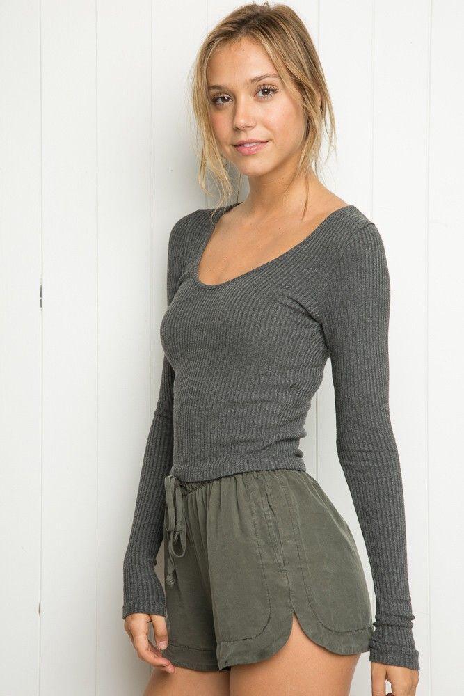 Brandy ♥ Melville | Genevie Top - Long Sleeves - Tops - Clothing