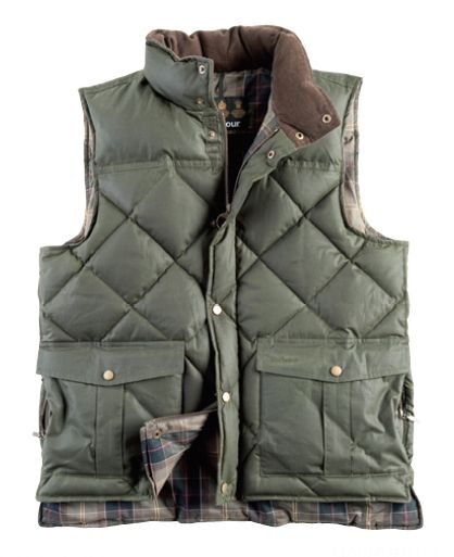 Waxed Cotton Quilted Down Vest