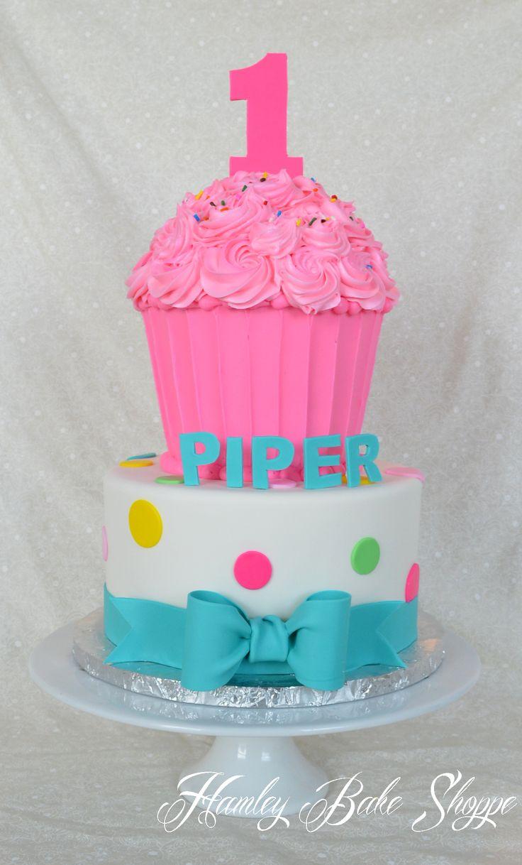 Cupcake Cake 1st Birthday www.hamleybakeshoppe.com