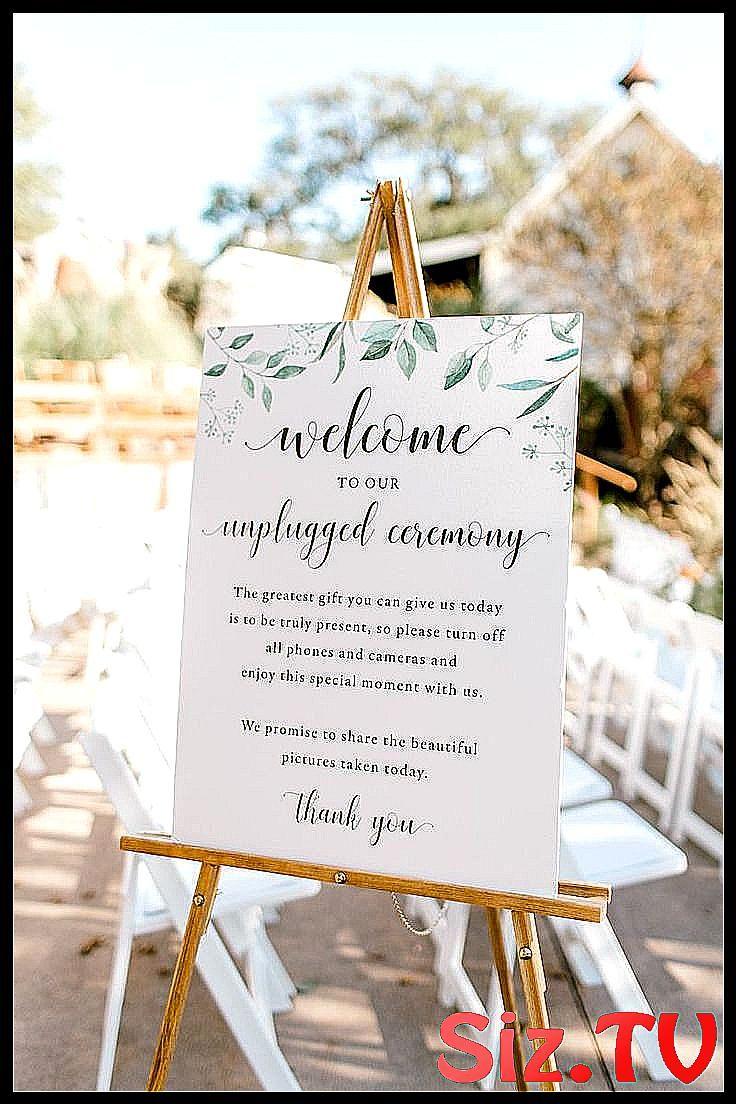 Unplugged Ceremony Sign Wording Unplugged Ceremony #Boho #boho_Wedding_Decor #Ce…