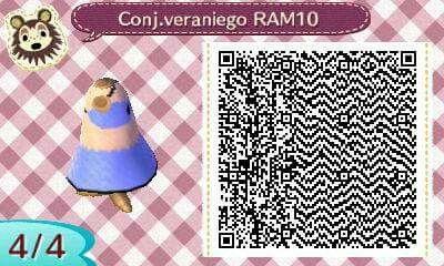 Este es un QR Code para Animal Crossing, creado por mí; como podéis observar, es un conjunto veraniego de color lila azulado. [4-4]  Lo podéis encontrar en mi canal de YouTube: https://www.youtube.com/channel/UCh6uwa2CjSgR4WQ-ghRQY6Q (Roxy).  ¡Espero que os guste! ;)