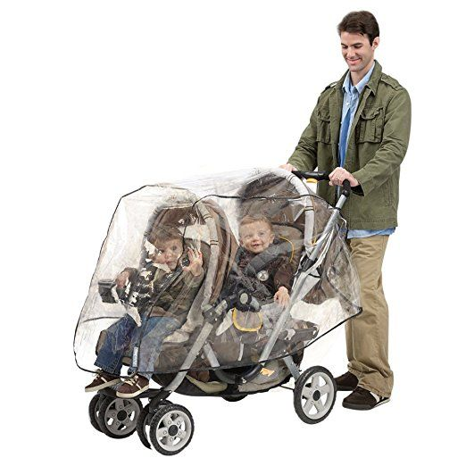 Amazon.com : J is for Jeep Tandem Stroller Weather Shield, Baby Rain Cover, Universal Size, Waterproof, Water Resistant, Windproof, See Thru, Ventilation, Clear, Plastic, Protection, Shade, Umbrella, Pram, Vinyl, Double : Baby Stroller Weather Hoods : Baby