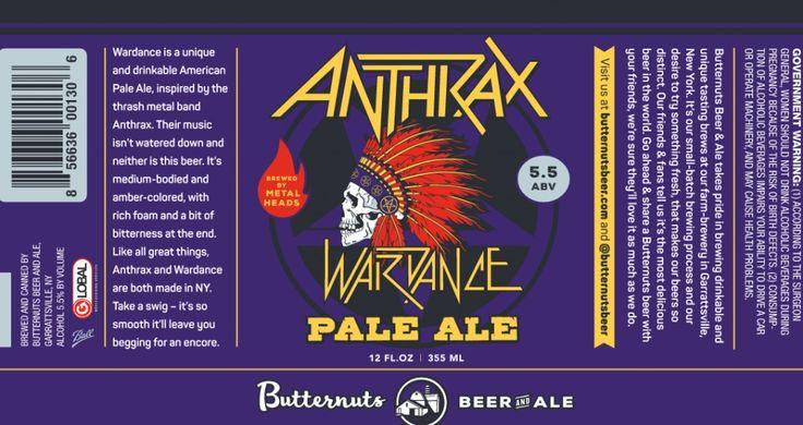 Butternuts - Anthrax Wardance http://www.beer-pedia.com/index.php/news/19-global/3935-butternuts-anthrax-wardance #beerpedia #butternuts #anthrax #paleale #indians #scottian #killthrax #beerblog #beernews #newrelease #newlabel #craftbeer #μπύρα #beer #bier #biere #birra #cerveza #pivo #alus