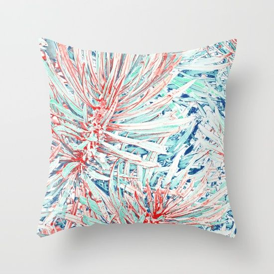 Tropical abstract(12) Throw Pillow
