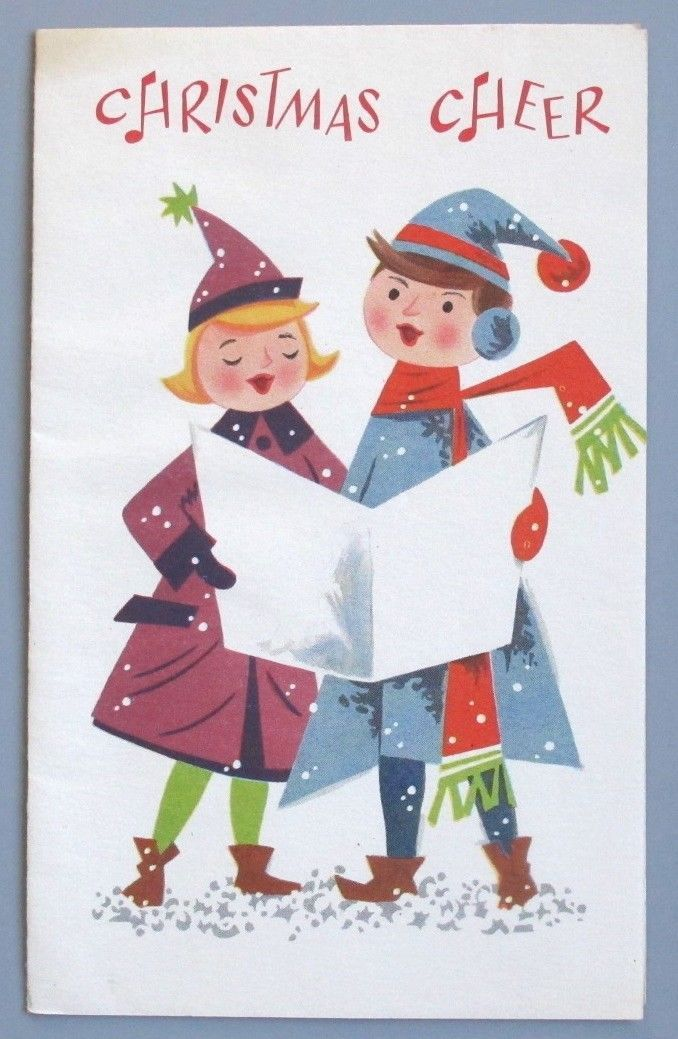 """Vintage Greeting Card Christmas Cheer People Carolers Couple Mid-Century FOR SALE • $2.95 • See Photos! Money Back Guarantee. Vintage Greeting CardUsed/SignedFaint toning on the front, top left cornerNo residue on the back6"""" x 3.75"""" See my other listings for more Vintage Greeting Cards ………………………………………………………………………………… I will combine shipping 162696345621"""