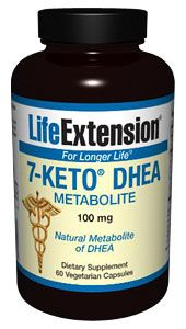 7-Keto® DHEA Metabolite  100 mg, 60 vegetarian capsules  Item Catalog Number: 01479. 7-Keto® DHEA is a natural metabolite of DHEA that has been shown to safely increase thermogenesis, improve fat loss and help maintain healthy body weight when combined with a diet and exercise program. A clinical study indicated that 7-Keto® DHEA increases the resting metabolic rate of overweight adults. 7-Keto® DHEA may improve memory retention. Antioxidants are added based on the effect 7-Keto® has...